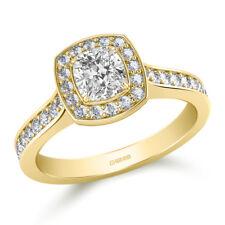 1.50 Ct Cushion Cut Bridal Diamond Wedding Ring 14K Solid Yellow Gold Size O P