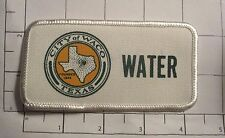 Waco Texas Water Dept Patch - vintage