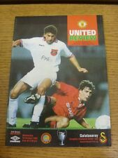 20/10/1993 Manchester United v Galatasaray [European Cup] (Team Changes). Condit