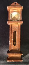 Dollhouse Furniture Grandfather Clock Wood Vintage 4.75�