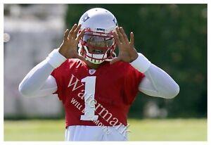 "Cam Newton Huge 19""x13"" Photograph Practicing as Patriots Quarterback"