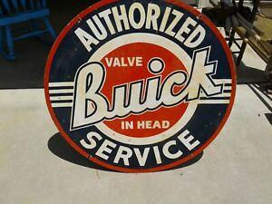 Buick Dealership Sign, Valve In Head Logo, Big Porcelain