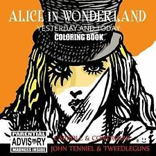 Alice in Wonderland Yesterday and Today Coloring Book (Paperback or Softback)