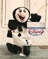 Disney Store Alice in Wonderland Blackcard Bean Bag Plush