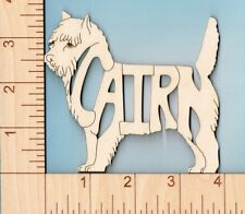 Cairn Terrier Dog laser cut and engraved wood Magnet Great Gift Idea