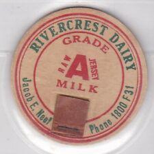 Rivercrest Dairy-Jacob E. Neef milk cap-Boonville, Missouri