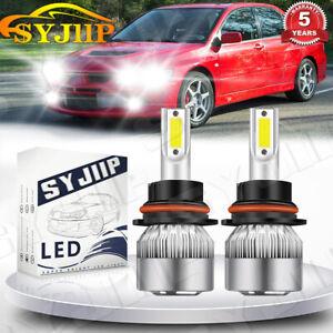 2pcs LED Headlight Kit High/Low Beam For 2002-2007 Mitsubishi Lancer Super White