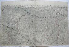 Theatre de la guerre d' , Espagne Navarra ORIG Copper Plate mapa bourguignon 1750