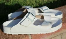 Birkenstock sandals shoes size 9.5, 10 white silver LEATHER Summer MEN Offer New