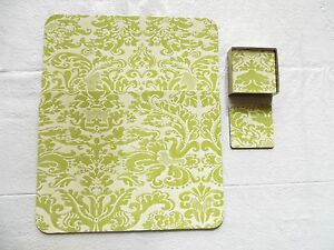 2 Cork Board Placemats Matching 6 piece Coaster Set from Pulp Fashion Show in SF