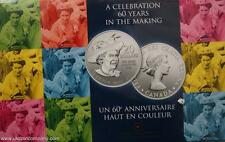 2012 Canada Uncirculated Silver $20 Coin By Royal Canadian Mint 60th Anniversary