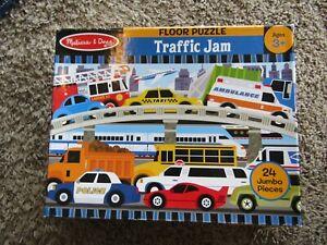 "Melissa & Doug 2x3 Foot Floor Puzzle ""Traffic Jam""  24 Piece Jigsaw Puzzle"