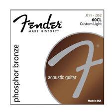 1 PC Fender 60CL Phosphor Bronze Acoustic Guitar Strings - Light -011~.052 Hot