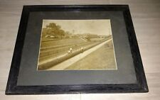"""Antique Framed Photo - Sharon Hill, PA Train Station - PRR, 20"""" by 18"""" - Nice"""