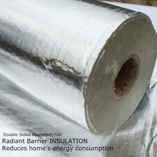 Home Wall Shed Attic Wrap Foil Insulation Radiant Barrier Reflect Energy Savings