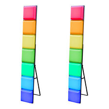 2x LEDJ Mood Bar Classic Retro LED Colour Changing Light Box DJ Effect Panel 1.6