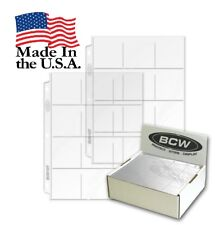 "Lot of 10 Pages BCW Vinyl 12-Pocket Pages Also fits 2½"" x 2½"" coin flips (#CS29)"