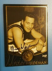 MURRAY WEIDEMAN HAND SIGNED COLLINGWOOD HALL OF FAME CARD