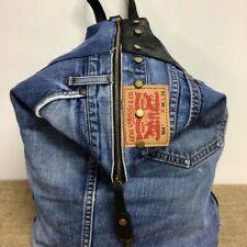 Zaino jeans e cuoio