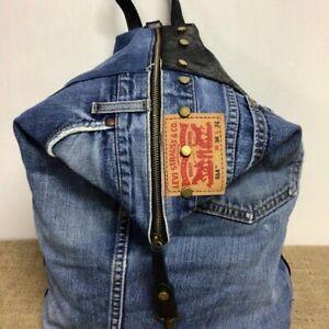Zaino jeans levis vintage e cuoio