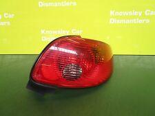 PEUGEOT 206CC CONVERTIBLE MK1 OFFSIDE/DRIVER REAR LIGHT