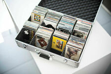 Neo Silver Aluminium DJ Flight Carry Case holds 120 CD's in Jewel Cases Sleeves