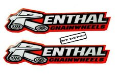 RENTHAL  SWINGARM DECALS STICKERS RED / BLACK / WHITE for MOTOCROSS ENDURO BIKE