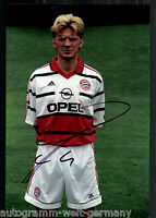 Stefan Effenberg Super Großfoto 20x30 cm Bayern München Orig.Sign.+31