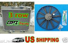 3 ROW ALUMINUM RADIATOR 69-70 FORD MUSTANG/-77 MAVERICK 4.1L/5.0L l6/V8 + fan