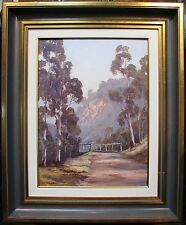 Pat Murphy original oil titled 'Pee Wees perching at Wisemans Ferry'. Australia