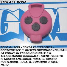 COVER GUSCIO ROSA A 3 TASTI NERI PER CHIAVE TELECOMANDO SMART MHD FORTWO 451