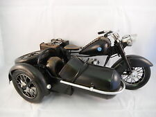 HAND MADE VERY RARE BMW R71 & SIDECAR WW2 ERA MOTORCYCLE TINPLATE COLLECTIBLE