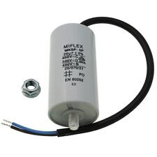 Starting / Motor Capacitor 20µF 450V 40x78mm Cable M8 ; Miflex ; 20uF