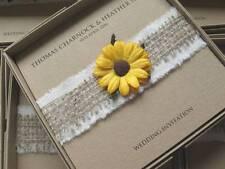 ECO Friendly Wedding Invitation con BOX-JUTA, di Mussola & GIRASOLE / MARGHERITA