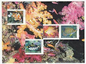 2010 AUSTRALIA STAMP MINI SHEET 'FISHES OF THE REEF' - MINT MNH