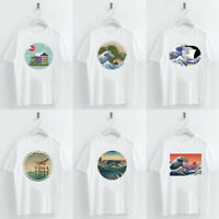Harajuku Japanese Ukiyoe Print t shirt Summer Women Short Sleeve O-neck Tee Tops