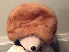 VINTAGE MR D'S FUR HAT TURBAN SIZE 22 BEAUTIFUL AND CLEAN LOOKS HARDLY WORN