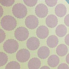 Scallop Circle Round Sticker Label Seal Kraft Brown Adhesive Binder Organization