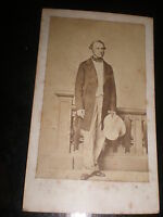 Cdv old photograph William Gladstone as a younger man c1860s