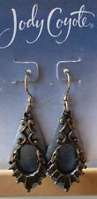 Jody Coyote Earrings JC0600 New QN086-01 Tranquil Collection gold gray blue