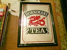 "roter Drache Spiegel "" Hornimans "" Tea 40 cm x ca.30 cm  gebraucht"