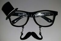 Costume Party Halloween Black Mustache Top Hat Eye Glasses