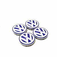VW Neuf Beetle 98-05 Blanc et Bleu Centre de Roue Capuchons 4 Pièce 1C060117109Z