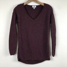Old Navy Knit Burgundy and Black Vneck Women's Sweater Top XS