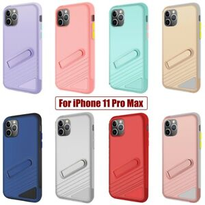 For iPhone 11 Pro Max Case PC & TPU Protective Cover with Magnetic Kick Stand