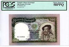 Portugal ... P-162 ... 500 Escudos ... 1958 ... *AU-UNC* ... PCGS 58 PPQ