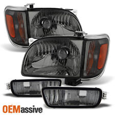Fits 2001-2004 Tacoma Smoked Headlights +Corner+Bumper Signal Lights 02 03 6pcs