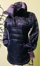 LULULEMON DOWN FOR A RUN NWOT Sz 6 Pullover Coat Black Swan Grape Purple