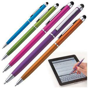 5x Eingabestift Silber 2 in 1 Touchpen Smartphone Kugelschreiber Geschenkidee