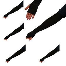 5 Pairs New Black Cooling Arm Sleeves Cover UV Sun Protection Outdoor Sports